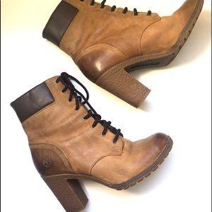 TIMBERLAND Glancy Heeled Boot Tan